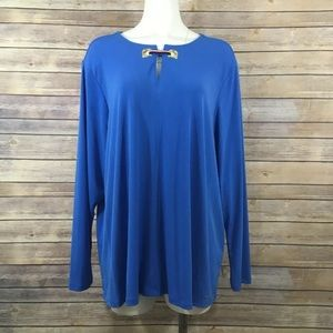 Tommy Hilfiger Grommet Blouse Stretch NWT